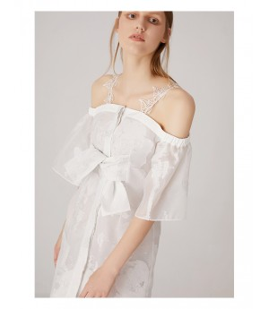 AlternaSenses Off-Shoulder White Dress