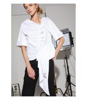 AlternaSenses White Draped Top