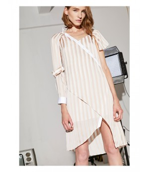 AlternaSenses Asymmetrical Striped Dress
