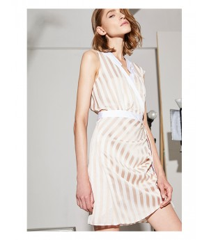 AlternaSenses Striped Gathered Dress