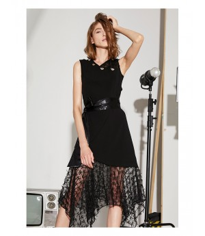 AlternaSenses Black Sleeveless Dress