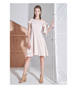 AlternaSenses Pink One Shoulder Cocktail Dress