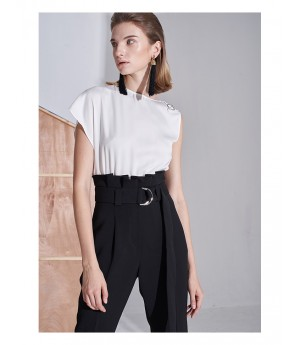AlternaSenses High Waisted Jumpsuit with White Top