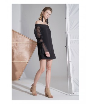 AlternaSenses Off-Shoulder Dress with Mesh