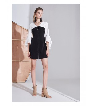 AlternaSenses Front Zipper Dress