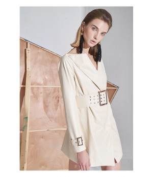 AlternaSenses V-Neck Suit Coat with Belt