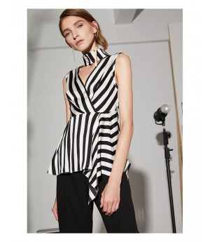 AlternaSenses White and Black Stripe Top