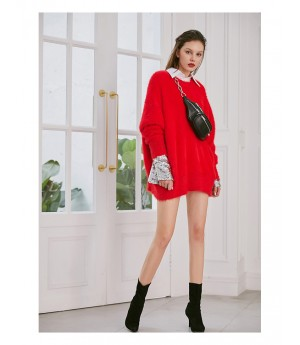 AlternaSenses Kintting Sweater-Red