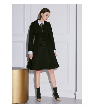 AlternaSenses Wool Suit Coat-Black