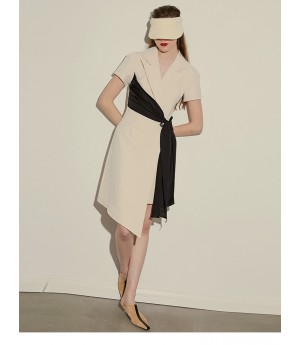 AlternaSenses Apricot Short Sleeve Dress