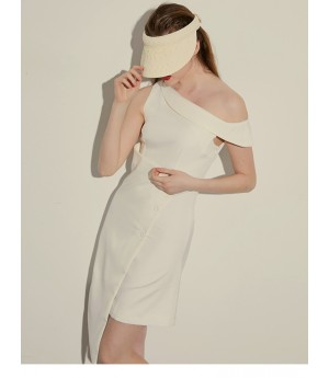AlternaSenses White Off Shoulder Dress