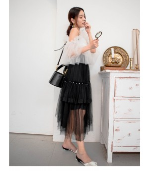 AlternaSenses Fluffy Silk Diamond Skirt