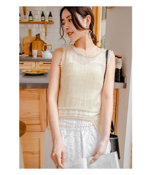 AlternaSenses Apricot Tassel Pearl Top