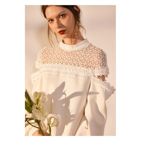 IcyNude Lace Stitching Top