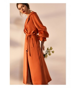 IcyNude Long Trench Coat