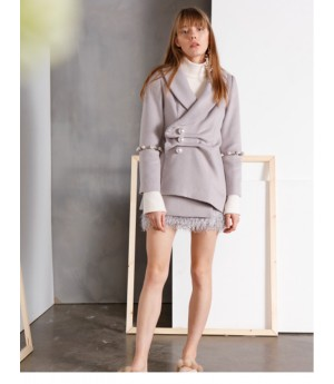 IcyNude Peal Button Short Coat