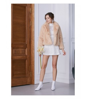 IcyNude Beige Fur Coat
