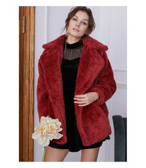 IcyNude Long Red Coat
