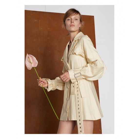 IcyNude Trench Coat