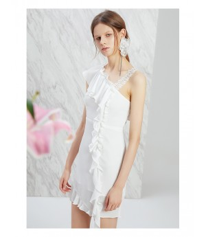 IcyNude One-Shoulder Dress