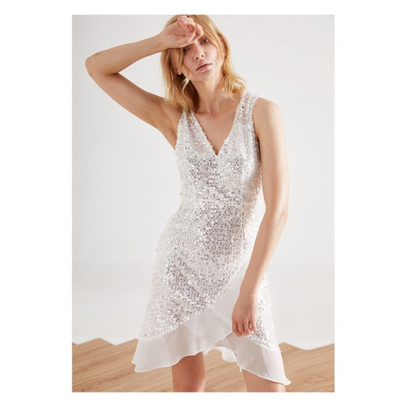 IcyNude Sequin Dress