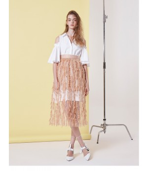 IcyNude Feather Skirt