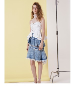 IcyNude  Blue Denim Skirt