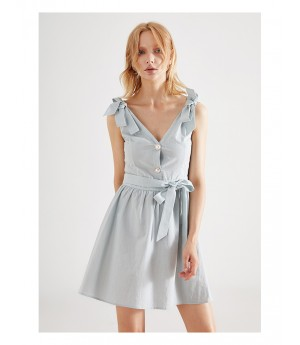 IcyNude Blue Bowknot Dress