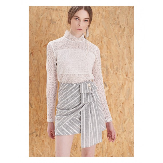 IcyNude Grey and White Skirt