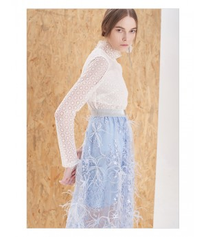 IcyNude Light Blue Elastic Skirt