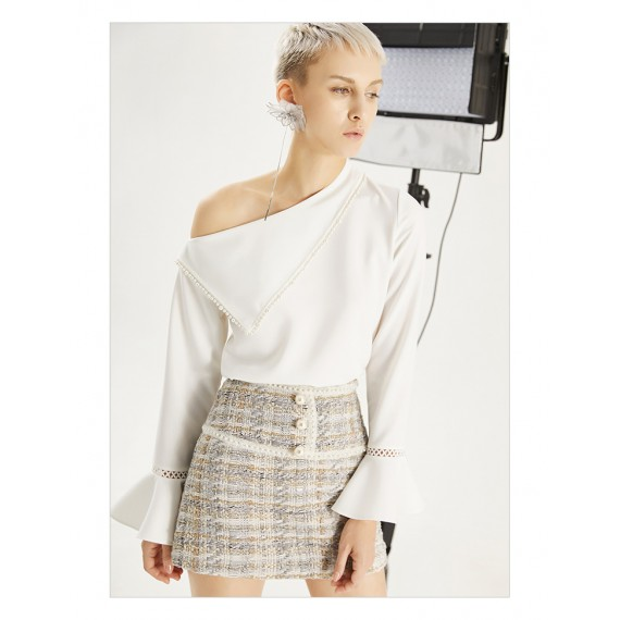 IcyNude Pearl A-Line Skirt