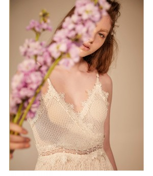 IcyNude Lace Hollow Jumpsuits