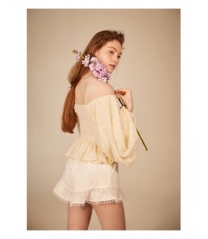 IcyNude Babble Sleeve Flower Shirt
