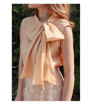 IcyNude Lotus Lace Short Dress-Apricot