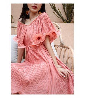 IcyNude Pink Light Silk Dress