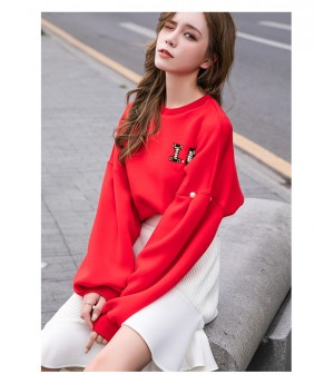 IcyNude Space Cotton Letter Hoodie