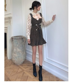 IcyNude Chanel Style Woolen Vest Dress