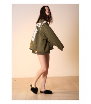 Istyni Baseball Coat-Green