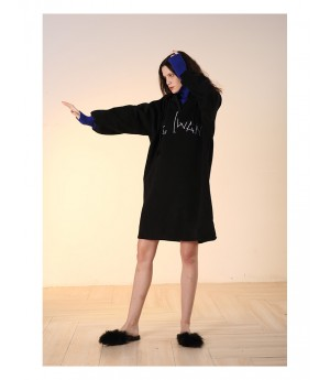 Istyni Two Pieces Hoodies-Black