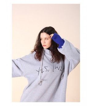 Istyni Two Pieces Hoodies-Grey