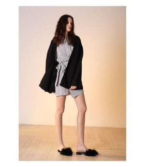 Istyni Knit Coat-Black