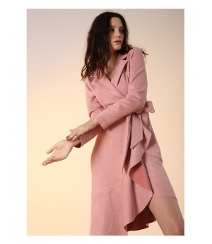 Istyni Chamois Leather Dress-Pink