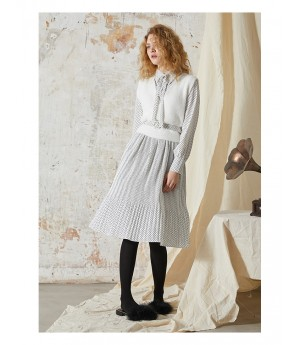 Istyni White Dot Dress