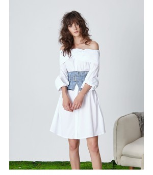 Istyni White Shirt Dress