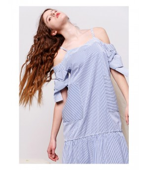Istyni Blue Stripe Dress