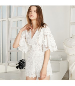 Istyni White Lace Dress