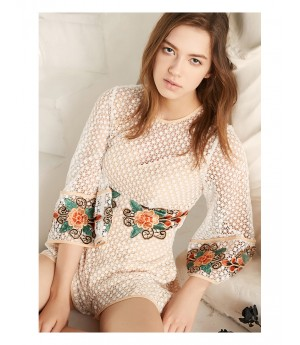 Istyni Embroidered Flower Dress