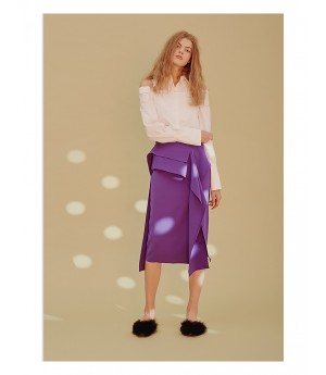 Istyni Off Shoulder Shirt-White