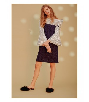 Istyni Dark Blue Skirt with Shoulder-Straps