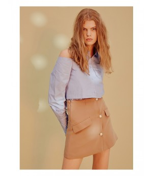 Istyni Khaki Suit Skirt